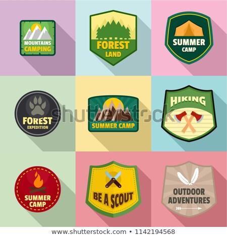 Logo foresta vegetazione gestione foglia web Foto d'archivio © butenkow