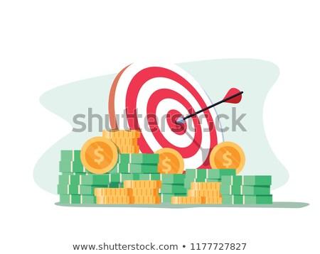 Foto stock: Tingindo · o · alvo · de · dinheiro