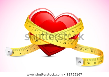 Red Heart With Measure Tape Stockfoto © Vectomart