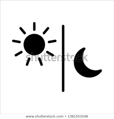 Vector icon maan slaap hoed Stockfoto © zzve