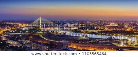 nuevos · puente · Belgrado · coche · carretera · construcción - foto stock © badmanproduction