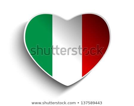 вектора · флаг · сердце · бумаги · наклейку · знак - Сток-фото © gubh83