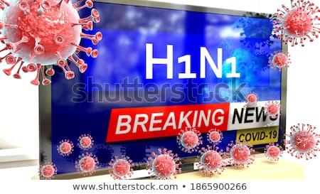 Stok fotoğraf: H1n1 · 3D · görüntü · doğa