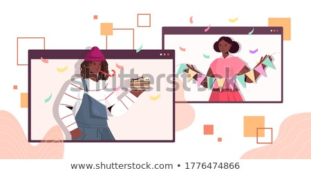 African Woman Whistling Stock photo © luminastock