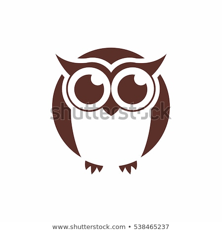 Stock photo: Owl bird head as halloween symbol for mascot or emblem design