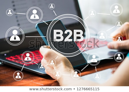 Businessman with word B2B Stock photo © pinkblue