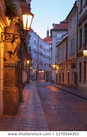 sokak · fener · Prag · gölge · sarı · duvar - stok fotoğraf © stevanovicigor