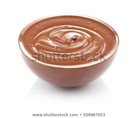 chocolate mousse isolated Stock photo © M-studio
