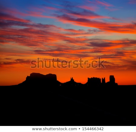sunset on us 163 scenic road to monument valley park stock photo © lunamarina