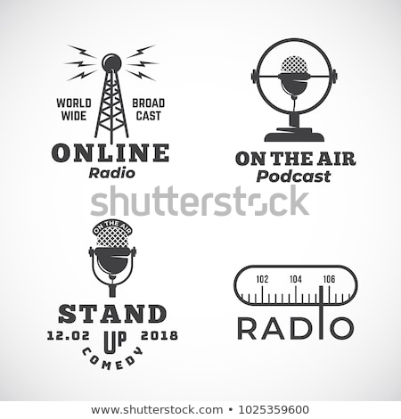 vector radio tower broadcast Stock photo © freesoulproduction