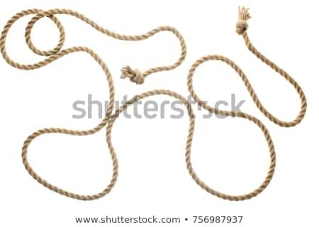 катиться · веревку · белый · хлопка · объект · потока - Сток-фото © stevanovicigor