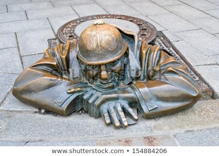 Man at work, Bratislava, Slovakia Stock photo © hitdelight