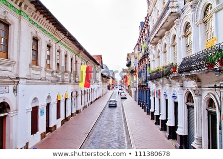 Streets of Cuenca Ecuador during the festivities Stock photo © pxhidalgo