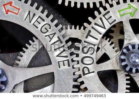 Negative or positive, opposite signs Stock photo © stevanovicigor