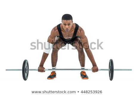 Sportsman with barbell Stock photo © Kirill_M