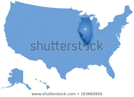 Map of States of the United States where Illinois is pulled out Stock photo © Istanbul2009