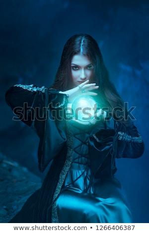 Fantastisch portret jonge brunette vrouw dame Stockfoto © konradbak