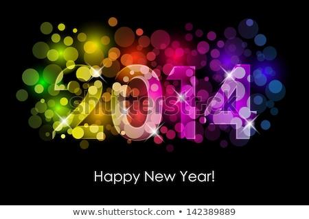 2014 nieuwjaar kleurrijk partij uitnodigingen licht Stockfoto © DavidArts