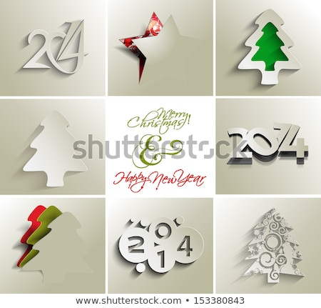 New year 2014 celebration template brochure collection presentat Stock photo © bharat