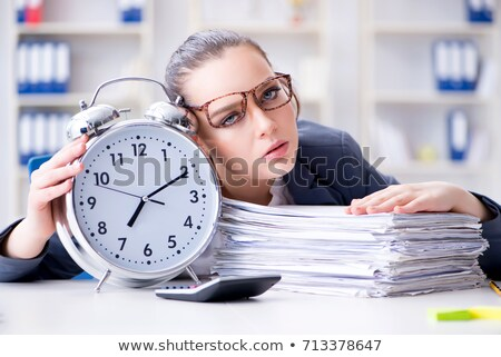 деловая · женщина · подчеркнуть · портрет · женщину · бумаги · работник - Сток-фото © dukibu