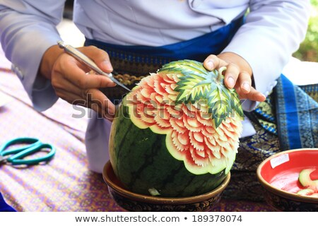 Fruit carving Stock photo © smuay