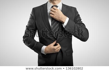 ビジネスマン ネクタイ クローズアップ ビジネス 顔 ファッション ストックフォト © jackethead