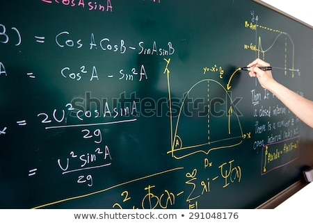 math functions on chalkboard stock photo © stevanovicigor
