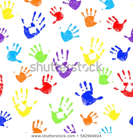 hand painted child white background stock photo © redpixel