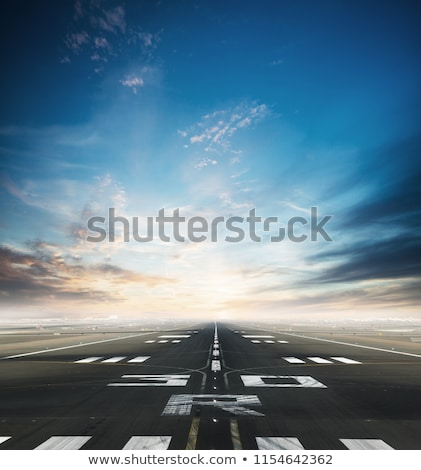 detail of runway at takeoff stock photo © meinzahn