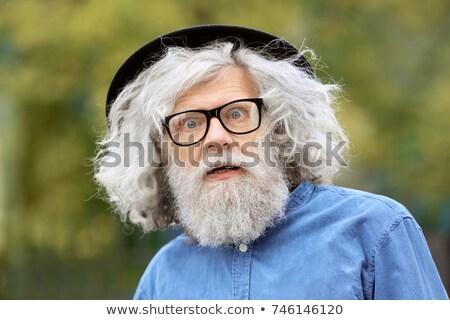 Korkmuş yaşlı adam portre yaşlı Stok fotoğraf © ichiosea