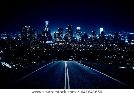 Stock photo: highway of night city