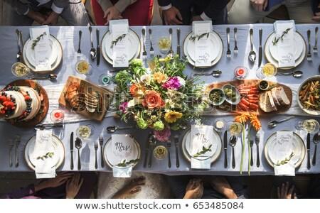 menü · çiçekler · düğün - stok fotoğraf © kmwphotography
