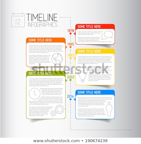 Timeline sprawozdanie szablon opisowy pęcherzyki Zdjęcia stock © orson