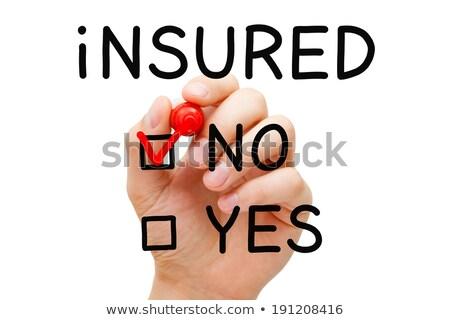 Photo stock: Assuré · pas · rouge · marqueur · main · vérifier