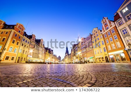 wroclaw poland in silesia region the market square at night stock photo © photocreo