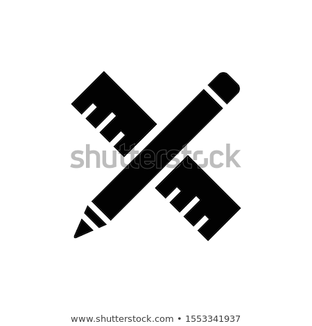 Stock photo: pencil and ruler