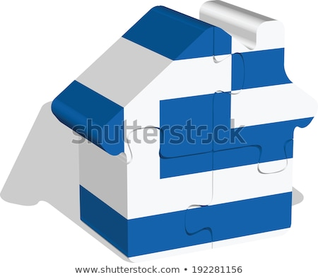 house home icon with Greece flag in puzzle Stock photo © Istanbul2009