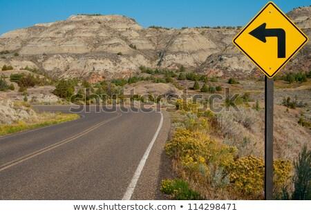yol · trafik · işareti · park · ABD · güneş · sokak - stok fotoğraf © cboswell