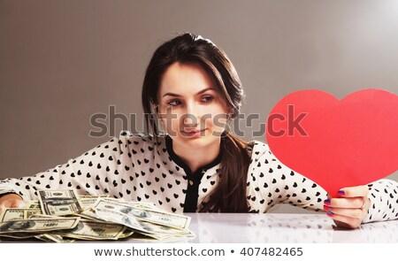 Amore soldi luminoso oro verde Foto d'archivio © 3mc