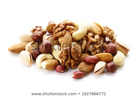 Nueces alimentos fondo saludable tazón Foto stock © M-studio