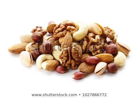 Stockfoto: Noten · voedsel · achtergrond · gezonde · kom