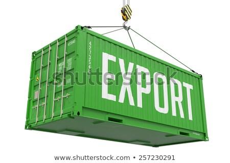 ストックフォト: 緑 · 絞首刑 · 貨物 · コンテナ · フック
