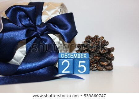 25 December Opened Calendar With Candle Stock photo © TarikVision