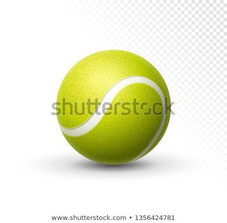 örnek · tenis · topu · spor · top · sarı · daire - stok fotoğraf © Krisdog