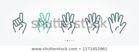 Hands and numbers.  Stock photo © ddraw