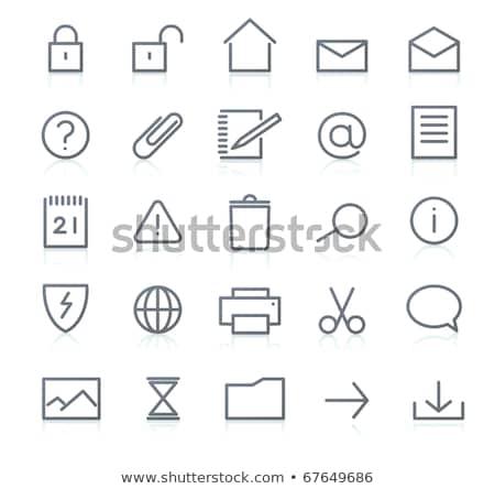 Conjunto ícones computador telefone internet Foto stock © oblachko