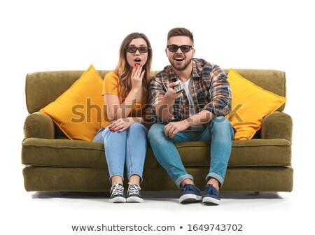 телевизор человека белый изолированный 3D изображение Сток-фото © ISerg