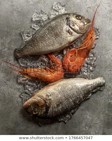 два · свежие · изолированный · белый · рыбы · фон - Сток-фото © neirfy