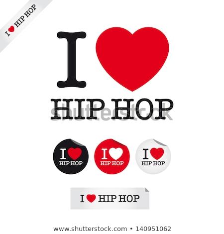 Amour hip hop police type signes vintage Photo stock © nezezon
