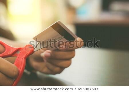 デビットカード カード カット アップ お金 ストックフォト © tangducminh